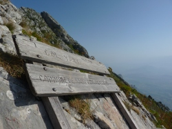 The bench at the top of Col Vert