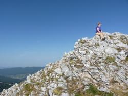 Me, sitting on top of the ridge